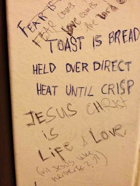 Messages on the toilet