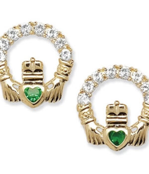Gold Claddagh Earrings