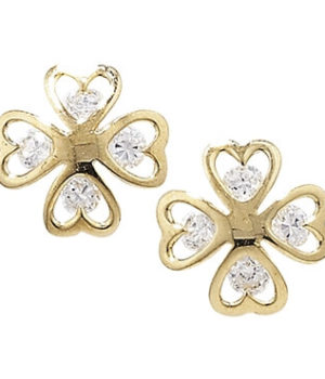 Gold Shamrock Earrings