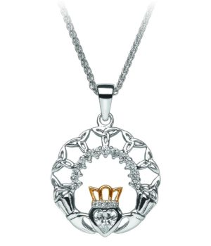 Claddagh & Trinity Cross Necklace