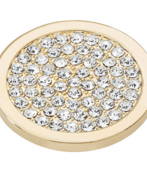 Sparkly Disc Coin - Yellow Gold plated