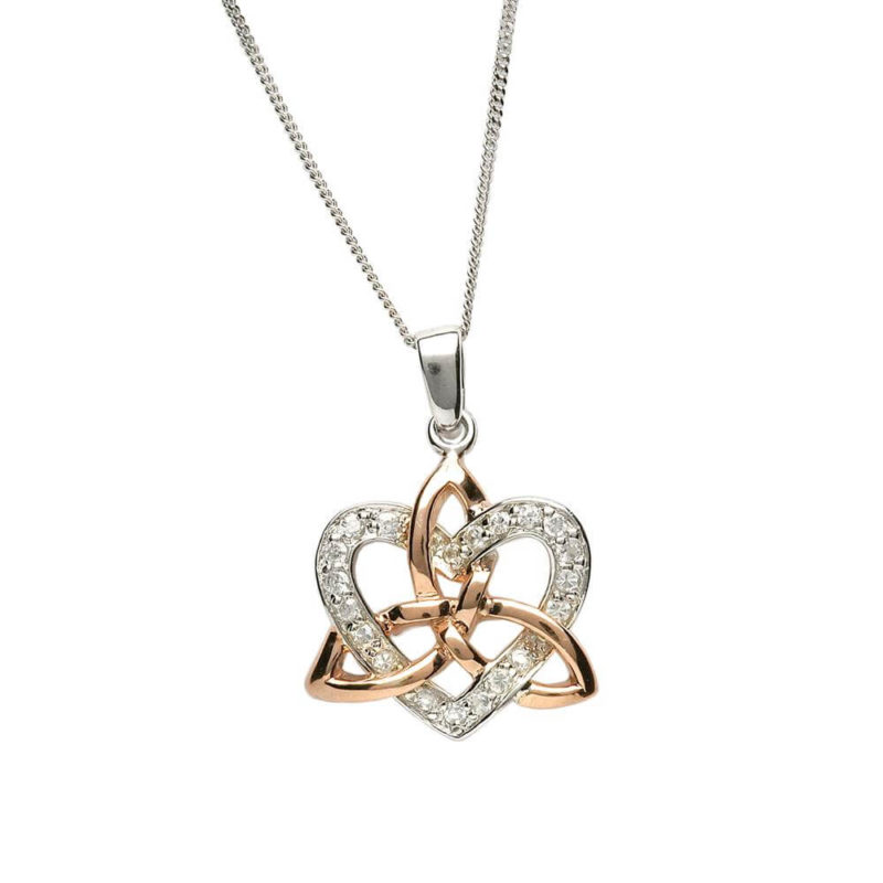 Heart & Trinity Necklace