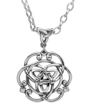 Silver Trinity Celtic Knot Necklace