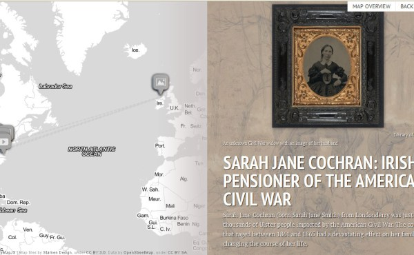 Sarah Jane Cochran: Irish Pensioner of the American Civil War (StoryMap)