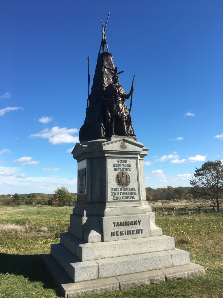 Memorial to the 42nd New York Infantry, the Tammany Regiment, Gettysburg (Damian Shiels)