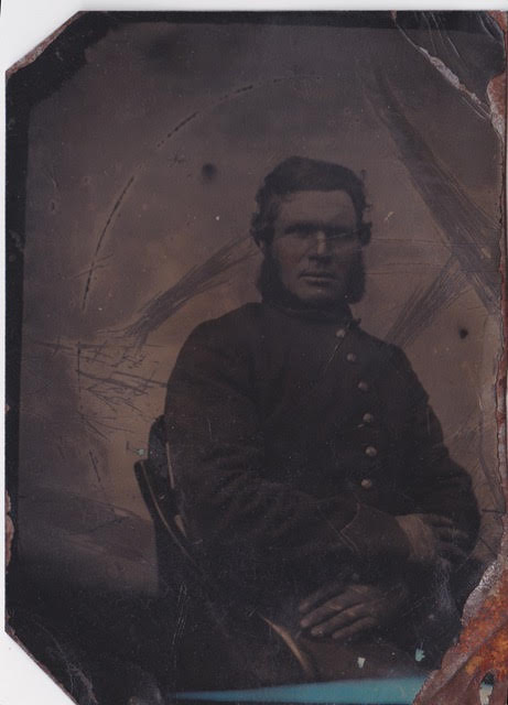 Florence Burke of the 37th Massachusetts Infantry. Ellen Alden's Great-Great-Grandfather, his letters inspired her to write a novel based on his family's life (Ellen Alden)