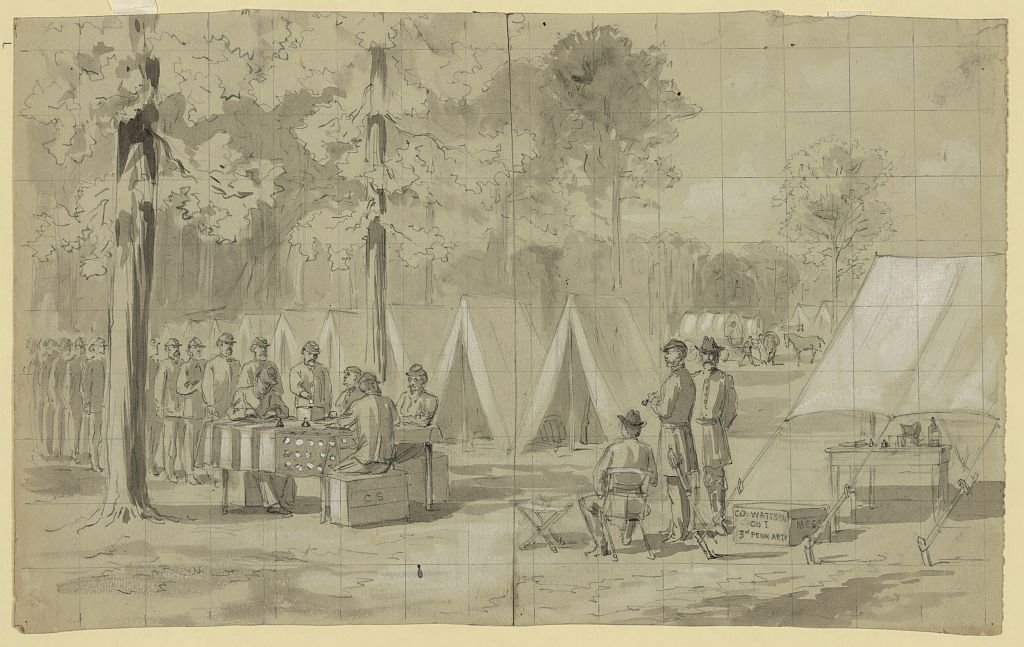 Soldiers Voting (Waud)