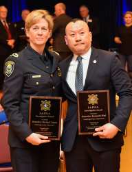 Investigations Award presented to Cambridge Police Detective Michael Logan and Cambridge Police Detective Kenneth Mui at the Irish American Police Officers Association Annual Awards Dinner held at The Malden Irish American Club in Malden on Saturday, May 4, 2019. Photography by David Sokol