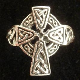 Sterling Silver Celtic Cross Ring - Ireland's Oldest Cross