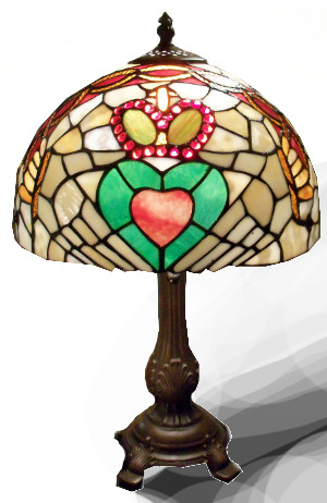 The Claddagh Stained Glass Lamp - $200.00