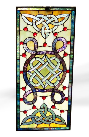 Book of Kells Stained Glass Window - $165.00