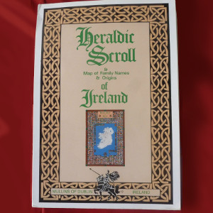 Heraldic Scroll of Ireland with 776 Coat of Arms in Full Color - $24.00