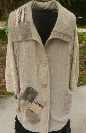 The Patch Jacket - 4-Seasons Cotton/Linen from Tivoli Spinners - $145.00