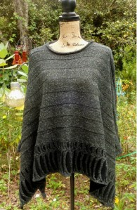 Aine 4-Seasons One-Size-Fits-All Sweater/Poncho - Black - $130.00