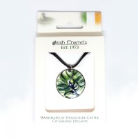 Irish Enamels: The Blackbird Necklace. Handmade. Only One on the Planet. $26.00