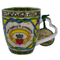 Set of 4 Royal Tara Bone China Claddagh Ring Mugs $48.00