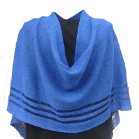 4-Seasons Royal Blue Poncho, 100% Irish Linen, Authentic Irish $68.50