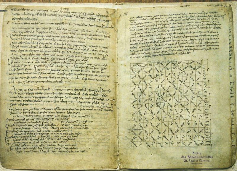 The original poem text in the Reichenau Primer