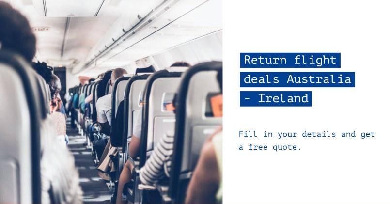 return flights Australia to Ireland