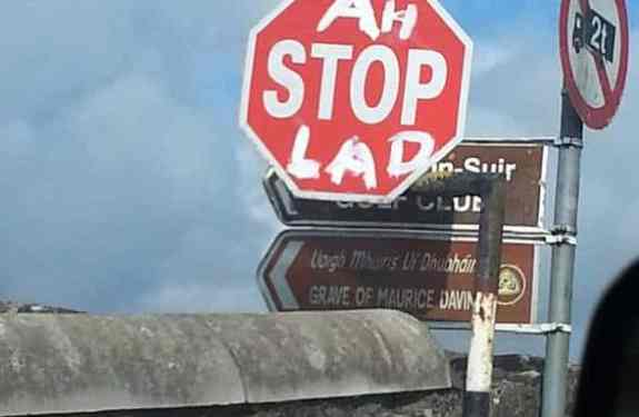 road-sign-Funny Irish Photos