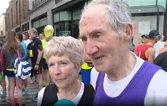 80 Year Old Irish Couple Finish Marathon