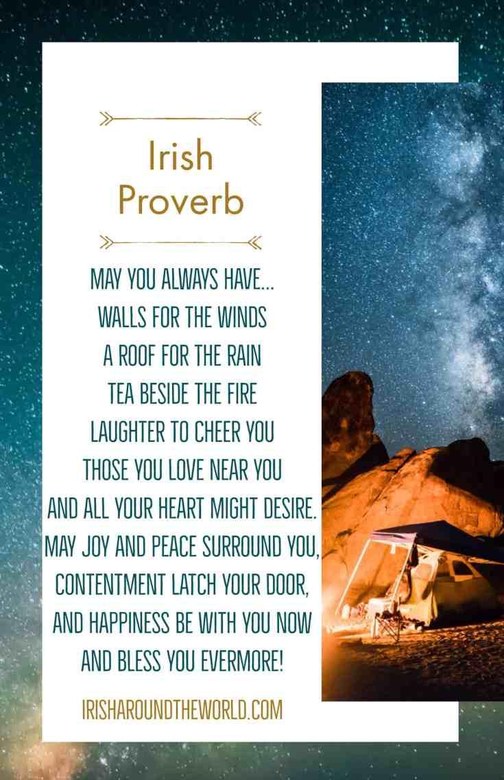 Irish sayings an old Irish proverb.