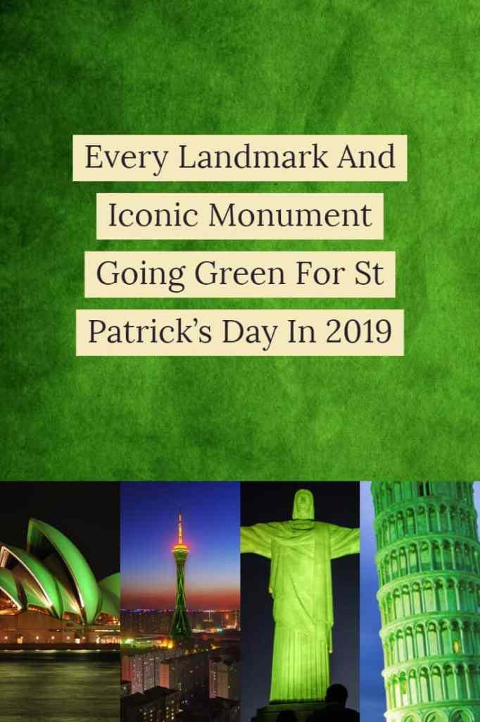 Landmarks going green for St Patrick's day (1)