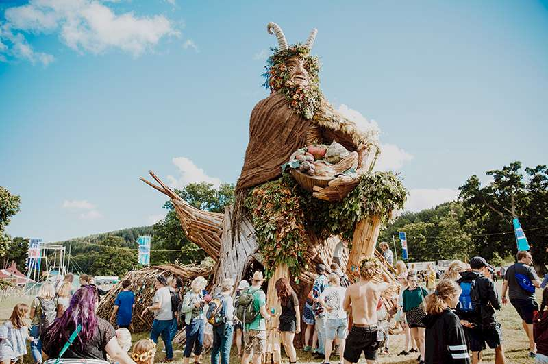 Giant Green Man At green Man festival