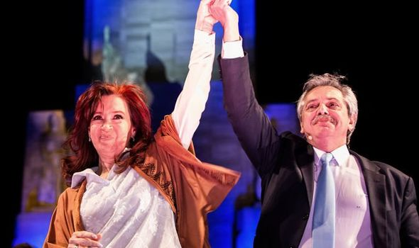 Alberto Fernandez, right, with former President Cristina Fernandez de Kirchner