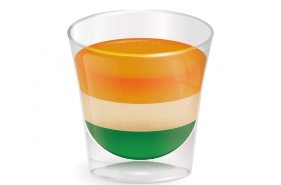 Irish flag shot - a tricolor layer shot