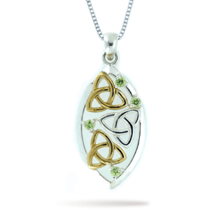 two_tone_oval-trinity_knot_with_peridot