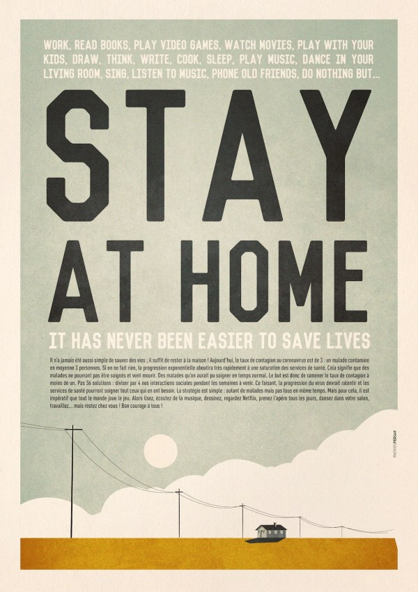L 'Affiche Stay at Home