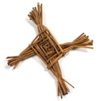 Brigid, Sainte patronne d'Irlande :  croix de Ste Brigid en paille