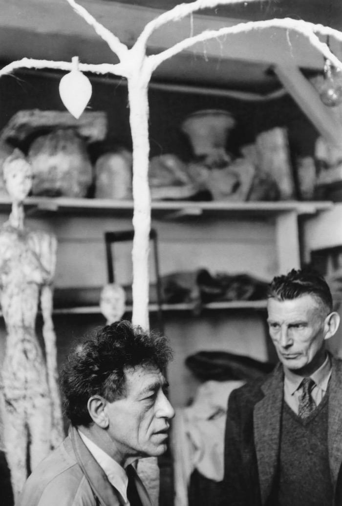 Giacometti et Beckett dans l'atelier d'Alberto