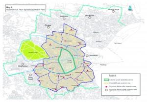 Dublin Bikes expansion map