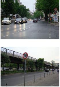 30km/h on larger roads in Berlin