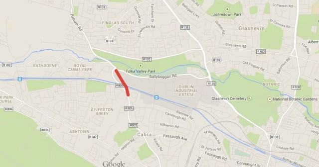 Ratoath Road bridge map