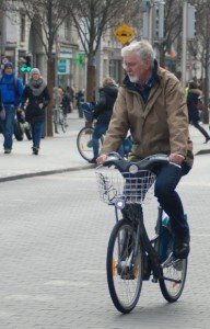 DublinBikes in use on O'Connell Street