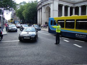 College Green does not have space to accommodate cars now -- with the arrival of Luas space and time will become more limit