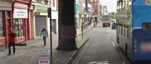 The pinch point on Google Street view