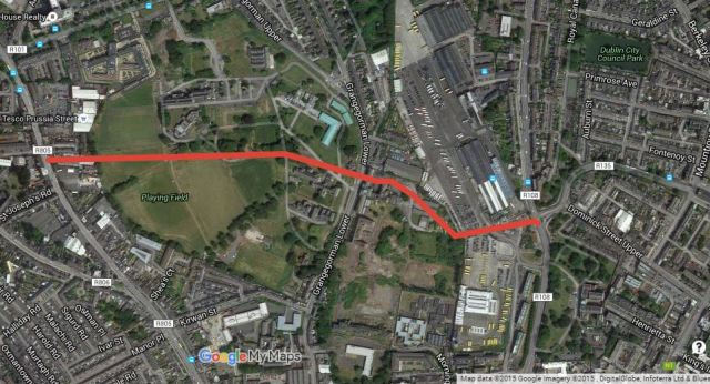 Grangegorman route