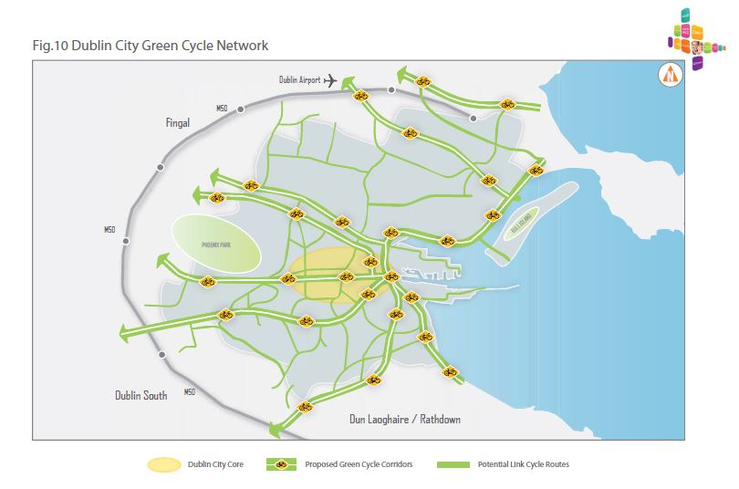 Dublin City Green Cycle Network