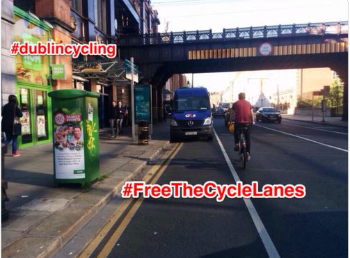 31c3366e59 IMAGE   freethecyclelanes launched.  FREETHECYCLELANES  A hastag was  launched to ...
