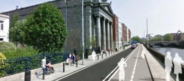 Liffey Cycle Route photomontage