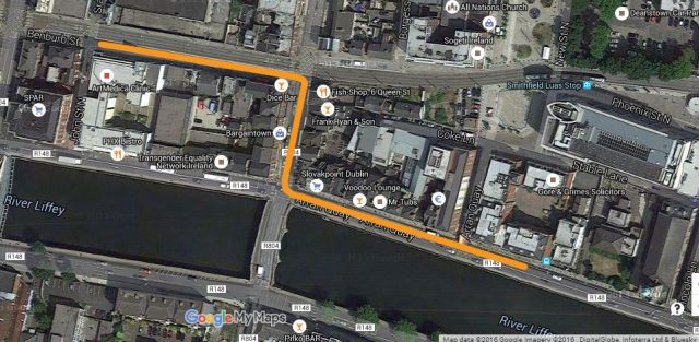 Bus detour return to quays