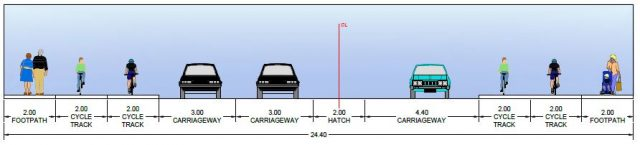 Naas Dublin Road cross section example 2