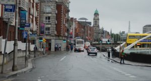 IMAGE: At the Blackhall Place / James Joyce Bridge junction in the foreground, motorists will only be able to turn left into Blackhall Place. The bus lane and cycle path route will contuine along the quays.
