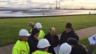 IMAGE: The ECF bid team visited the new cycle path at Clontarf, which is part of the Dublin Bay S2S route.