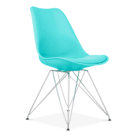 Turquoise Eiffel Dining Chair, Eames Inspired
