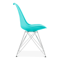 Turquoise Eiffel Dining Chair, Eames Inspired - Turquoise ...